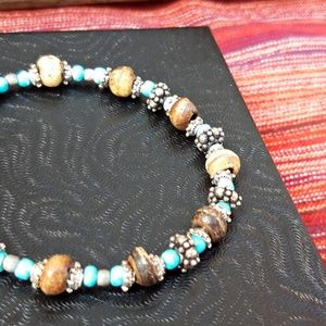 Handcrafted Beaded Bracelet Adjustable